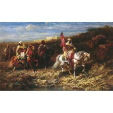 Arab Horseman In A Landscape