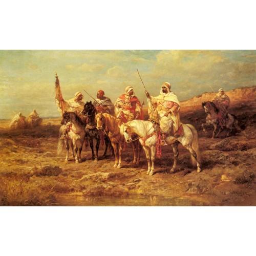 Arab Horsemen by a Watering Hole