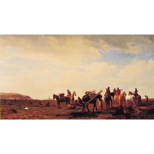 Indians Travelling Near Fort Laramie
