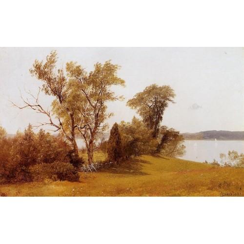 Sailboats on the Hudson at Irvington