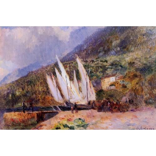 Boats Docked at Saint Gingolph