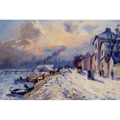 Near Rouen Snowy Weather