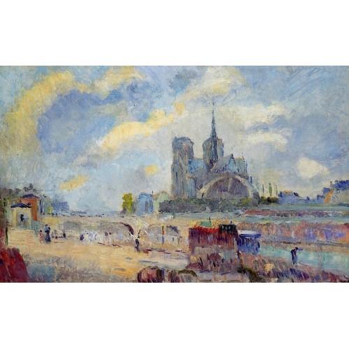 Notre Dame de Paris and the Bridge of the Archeveche