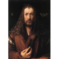Self Portrait in a Fur Collared Robe