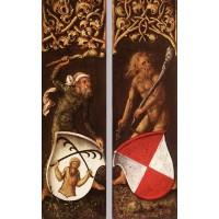 Sylvan Men with Heraldic Shields