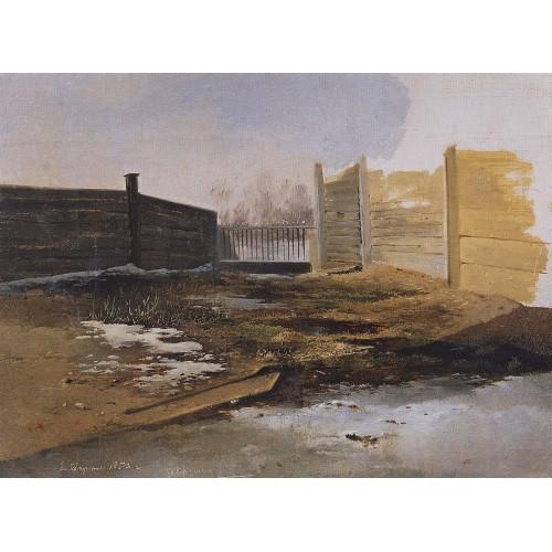 Courtyard spring 1853