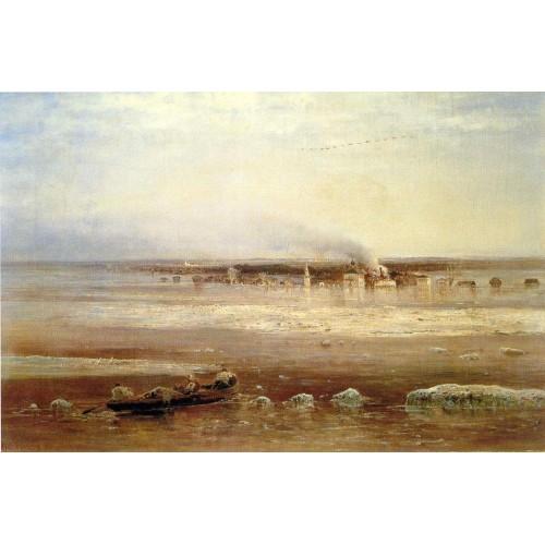 Flooding of the volga river near yaroslavl 1871