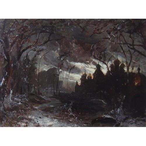 Ipatiev monastery in the winter night