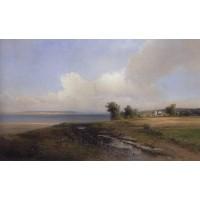 Landscape bank of the volga 1874
