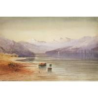Mountain lake switzerland 1864
