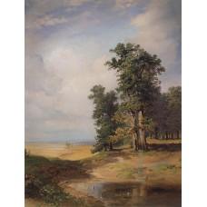 Summer landscape with oaks 1850