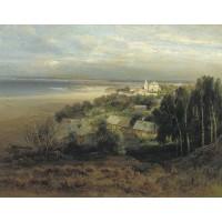 The monastery of the caves near nizhny novgorod 1871