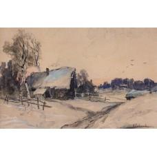 The village in winter 1890