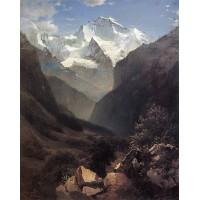 Type in the swiss alps mount small ruhen 1862