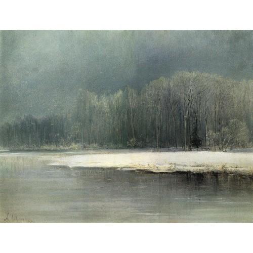 Winter landscape rime