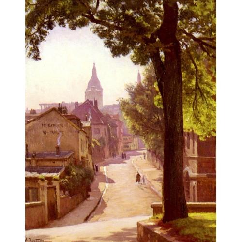 La Rue De L'abreuvoir A Montmartre