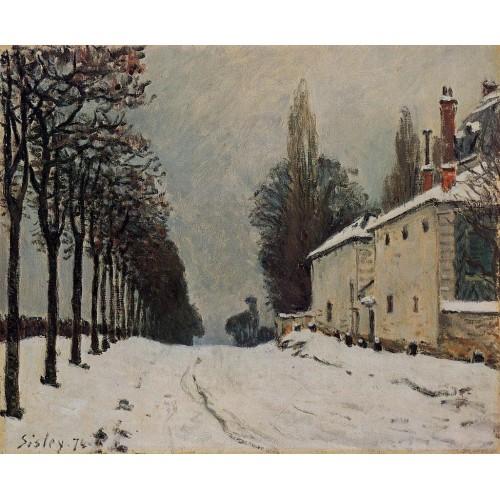 Snow on the Road Louveciennes (Chemin de la Machine)