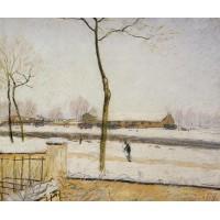 Snow Scene Moret Station