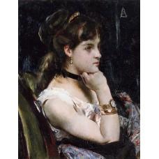 Woman Wearing a Bracelet