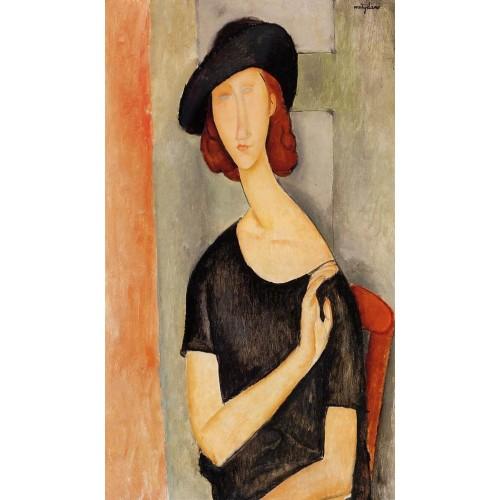 Jeanne Hebuterne in a Hat