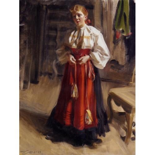 Girl in an Orsa Costume