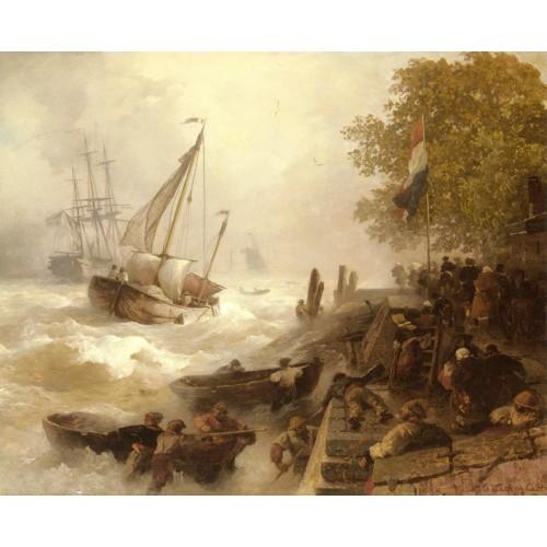 Return To Harbour In Rough Seas
