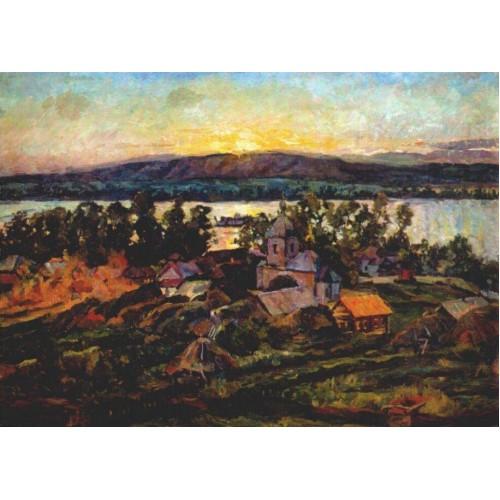 Sunset on the volga 1928