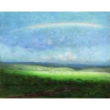 After a rain rainbow