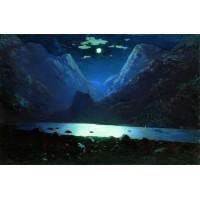 Daryal pass moonlight night