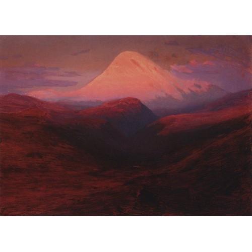 Elbrus in the evening