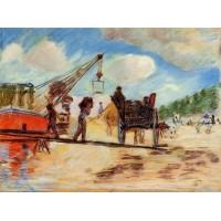 Le Charrois au bord de la Seine