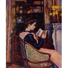 Mademoiselle Guillaumin Reading