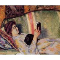 Portrait of Marguerite Guillaumin Reading