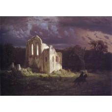 Ruins in a Moonlit Landscape