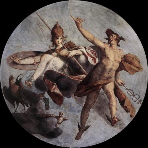 Hermes and Athena