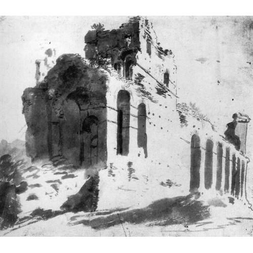 Ruins of the City Walls near Porta S Paolo Rome