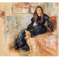 Julie Manet and Her Greyhound Laertes