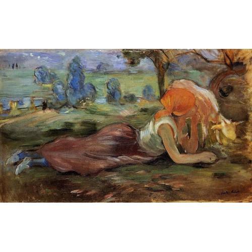 Shepherdess Laying Down 1