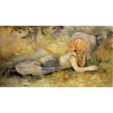Shepherdess Laying Down 2