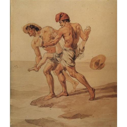 Forced to swim 1852