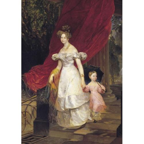 Portrait grand duchess elena pavlovna and her daughter