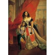 Portrait of countess yu p samoilova and her ward