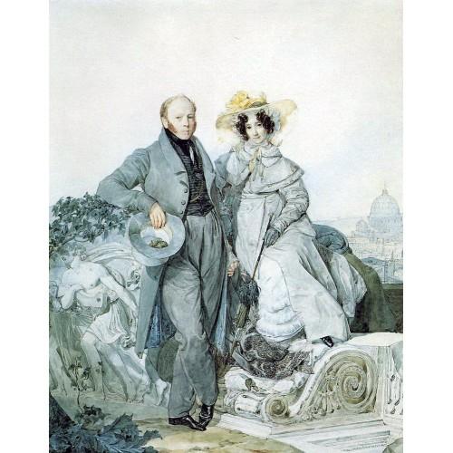 Portrait of g n and v a olenin