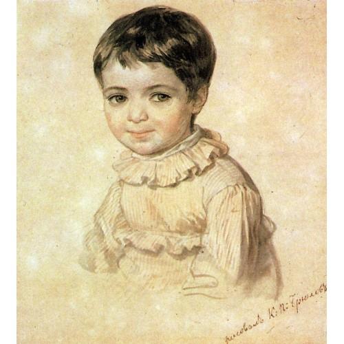 Portrait of maria kikina as a child 1820