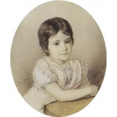 Portrait of maria kikina as a child