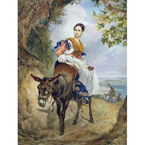 Portrait of o p ferzen on a donkeyback
