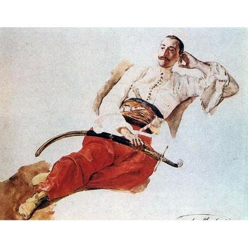 Portrait of p a chikhachev
