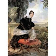Portrait of princess ye p saltykova 1835