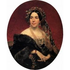 Portrait of princess z a volkonskaya