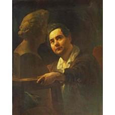 Portrait of sculptor i p vitaly 1837